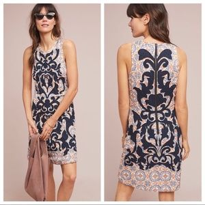 NWT Anthropologie Owen Embroidered Shift Dress 14